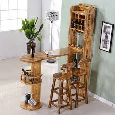 Home Wine Bar Wood household mini bar off the living room cabinet tables and chairs can