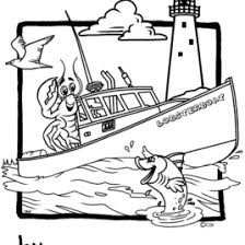 Small Picture Lobster Boat Coloring Page Kids Drawing And Coloring Pages