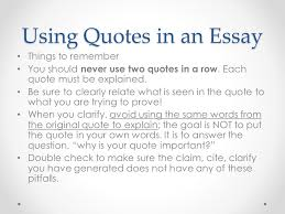 ending an essay paragraph a quote