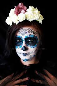 day of the dead in mexican sugar skull makeup tutorial