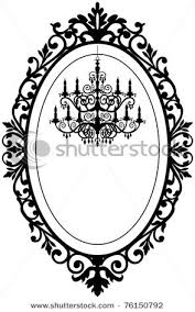 oval frame tattoo design. Baroque Frame Vector Oval Tattoo Design