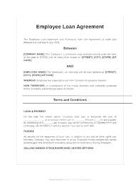 Company Loan To Employee Agreement Company Loan Agreement Template Free Business Uk Templates