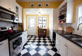 Retro Kitchen Flooring Top Modern Kitchen Flooring Materials Small Design Ideas