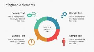 Data Infographic Flat Elements For Powerpoint Professional