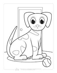 Pet Coloring Free Puppy Dog Coloring Page For Kids Dog Coloring