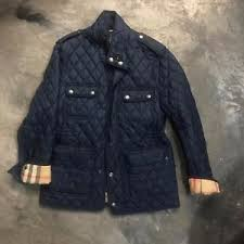 new BURBERRY BRIT RUSSELL Diamond Quilted Field Jacket in NAVY S ... & Image is loading new-BURBERRY-BRIT-RUSSELL-Diamond-Quilted-Field-Jacket- Adamdwight.com
