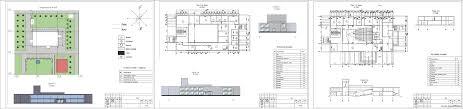 Курсовые и дипломные проекты общественное здание скачать dwg  Курсовой проект Многофункциональный центр досуга 48 х 27 м в селе