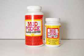 mod podge comes in glossy and matte finishes but it still just glue
