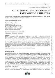 Taekwondo Player Diet Chart Pdf Nutritional Evaluation Of Taekwondo Athletes