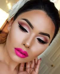 3 pink women face make up