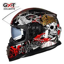 genuine winter vcoros full face skull motorcycle helmet anti fog