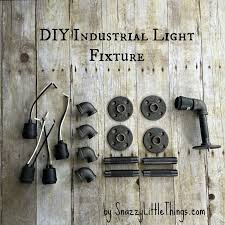 diy industrial lighting. Part I: Builders-Grade Bathroom Upgrade By SnazzyLittleThings.com Diy Industrial Lighting