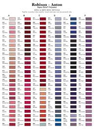 Robison Anton Color Chart Embroidery Service Urbanfly Apparel