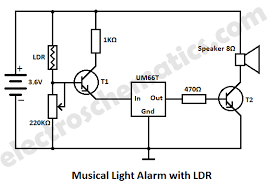 light dependent resistor circuit diagram info light alarm circuit ldr wiring circuit