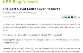 The Best Resume Cover Letter