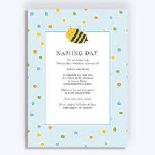 Naming Day Ceremony Invitations