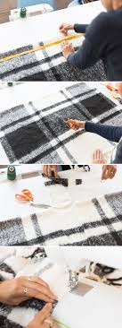 cozy up with this winter fashion tutorial for a plaid poncho learn how to make