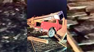 Drunk driver crashes truck through fence and hits camper