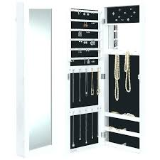 armoires lighted jewelry armoire wall mounted jewelry wall mounted jewelry with mirror inch wall mounted