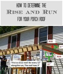 exle of rise and run when building your own porch roof