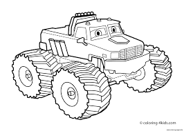 Easy Bigfoot Monster Truck Coloring Pages Printable