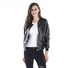 2018 2017 faux leather jackets for women designer jacket leather autumn soft coat slim black zipper motorcycle jackets plus size women clothing from