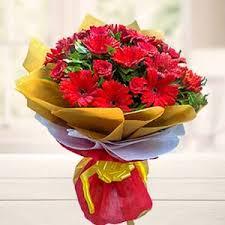 mix red flowers bouquet birthday chikkadpally hyderabad