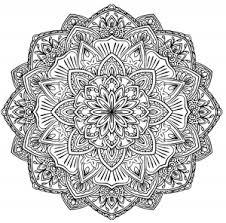 Square Mandala Malas Adult Coloring Pages