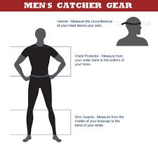 Baseball Warehouse Baseball Catchers Gear Size Chart