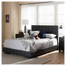 Atlas Modern And Contemporary Faux Leather Platform Bed Full