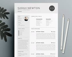 Resume Template and Cover Letter Template for Word | DIY Printable 4 Page |  The