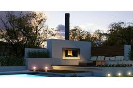 escea ew5000 outdoor cooking fireplace stainless steel ferro fascia