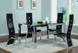 Metal Glass Dining Table Of Contemporary To Your Dining Room This Metal And Glass Dining
