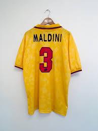 Ac milan and puma logo. 1994 96 Ac Milan Third Shirt Maldini 3 Xl 9 10 Greatest Kits