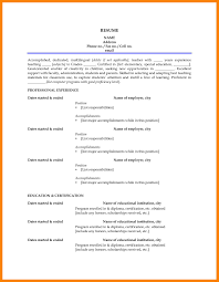 First Resume Resume Templates For First Job Fungramco 60