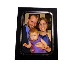 new black cardboard photo easel frame uptown style size 5x7 photo