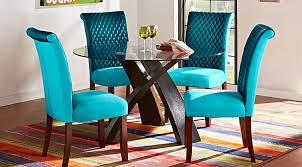 blue dining room set. Del Mar Ebony 5 Pc Round Dining Set Blue Room S