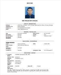 Resume Form Adorable Formal Resume Samples Kazanklonecco