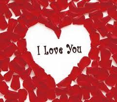 i love you image with heart and rose petals