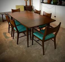 homey inspiration mid century modern dining room table saga by with regard to chairs idea 12