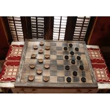 Old Wooden Game Boards Wooden Checker Draughts Game Board style 100 14
