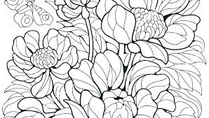Flower Coloring Pages Preschool Spring For Toddlers Flowers
