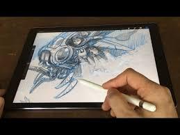 Drawing On Ipad Pro Ipad Pro 12 9 Pencil Artist Review Vs Cintiq Companion