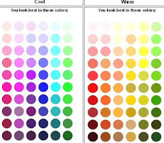 warm cool color chart
