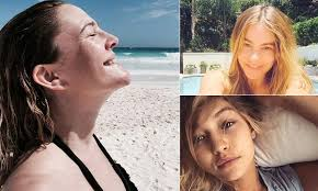 bare faced and beautiful these stars have embraced the no make up selfie