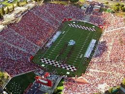 Fresno State Aerial View Of Bulldog Stadium Canvas Print