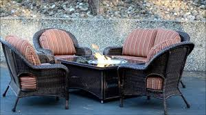 reduced patio set with fire pit table naples balsam wicker