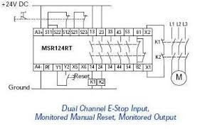 e stop in motor controls page 2 pilz relay operation at Pilz Safety Relay Wiring Diagram