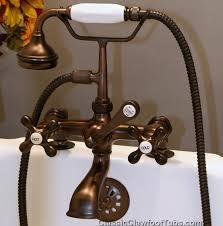 elegant clawfoot bathtub faucet in rim deck mounted faucets classic tub