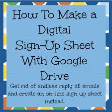 How To Make A Signup Sheet